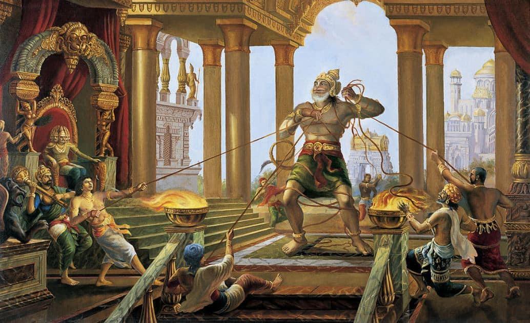 Hanuman in Ravana's Palace