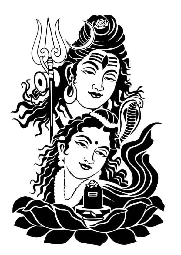 Shiva Parvati Wallpaper for Mobile