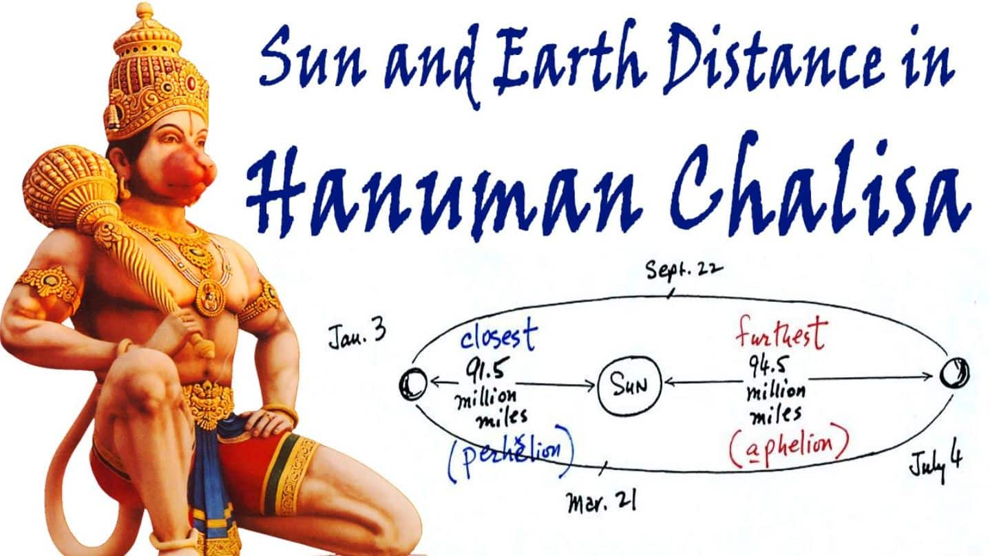 Hanuman Chalisa- Sun and Earth Distance