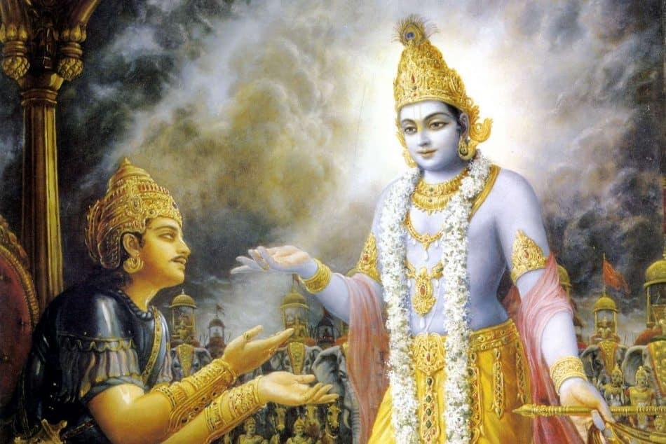 Shri Krishna and Arjuna
