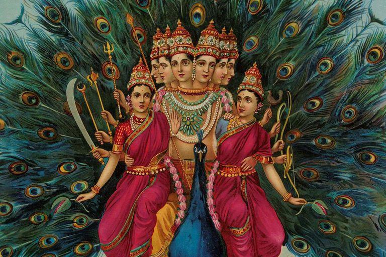 Lord Kartikeya and His Wife