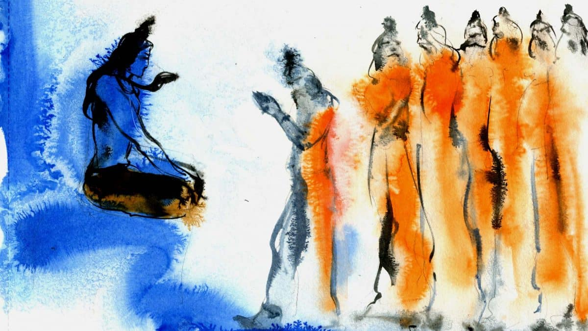 Lord Shiva and Saptarishis