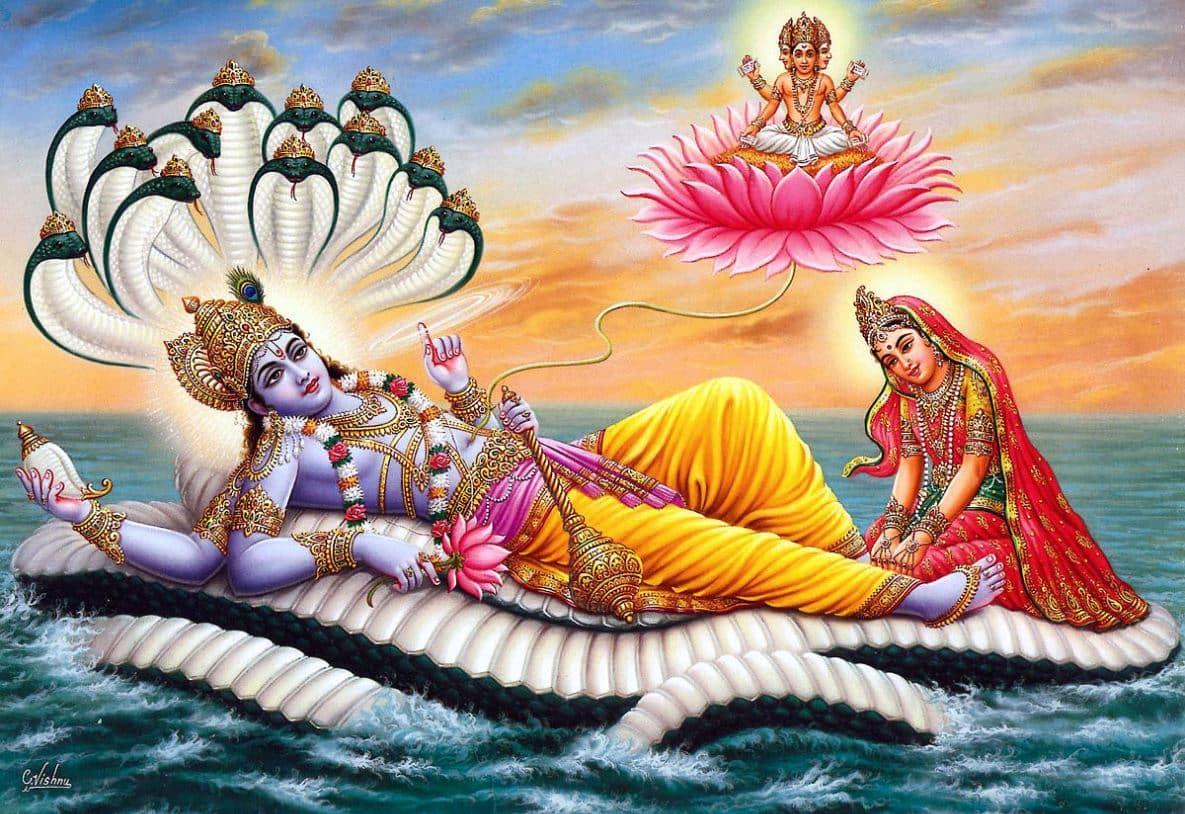 brahma from vishnu's navel
