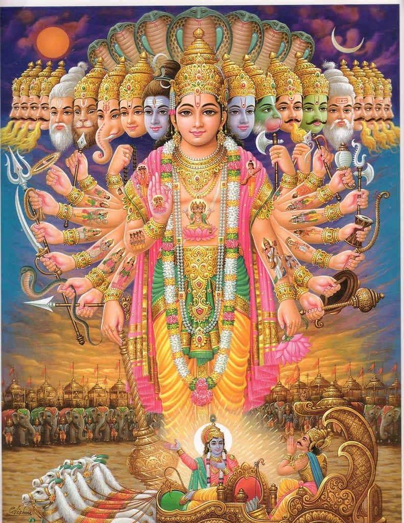 Lord Vishnu - Hindu Got With Many Arms and Heads