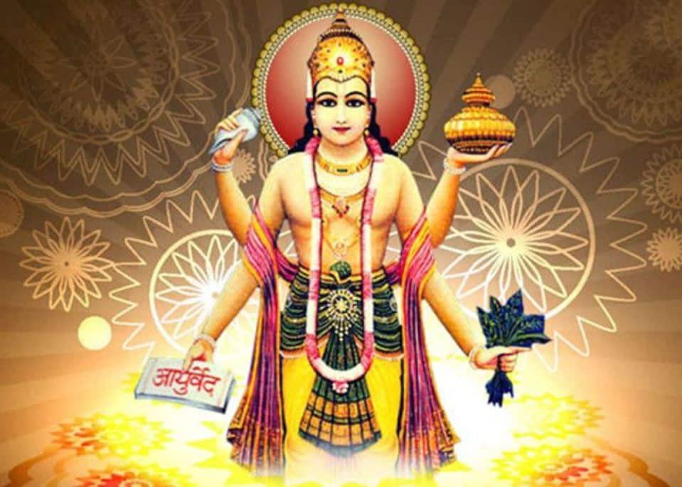 Dhanvantari_24 Avatars of Vishnu