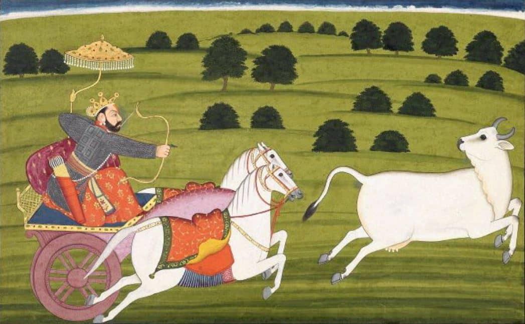 Prithu_Chasing Prithivi_24 Avatars of Vishnu