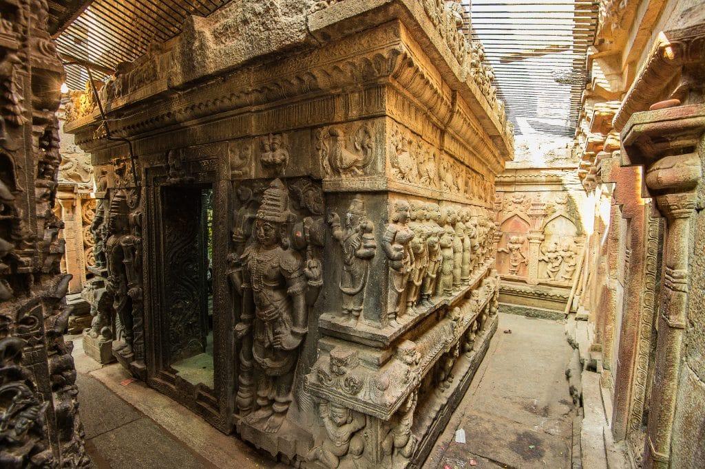 Ornate Carvings on the Uma-Maheshswara Shrine