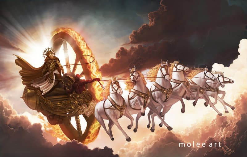 Lord Surya and 7 Horses