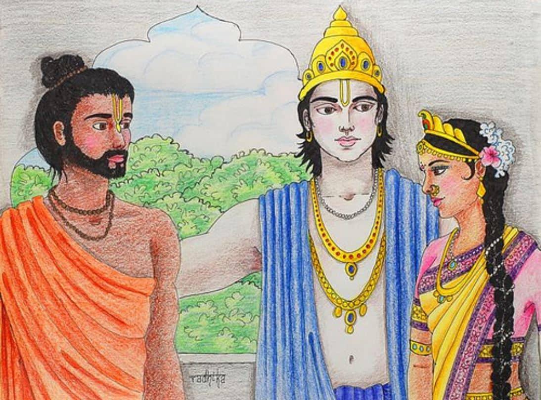 Lord Krishna, Arjun and Subhadra