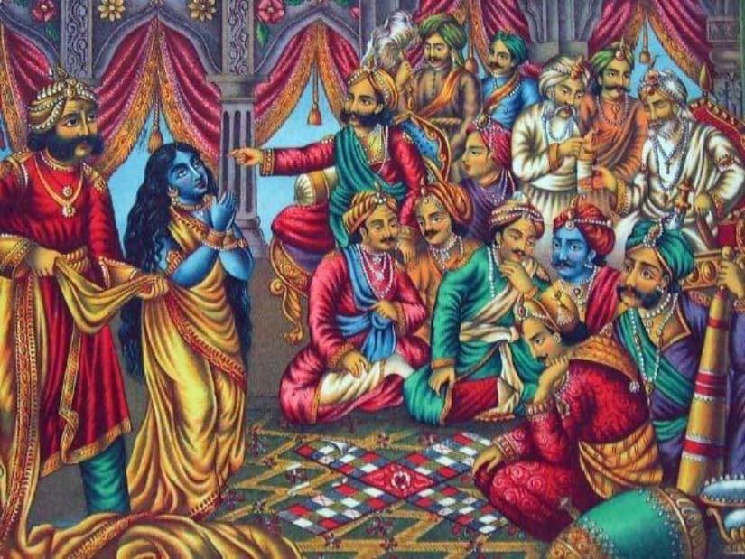 Game of Dice_Mahabharata_Dropati Brastaharan
