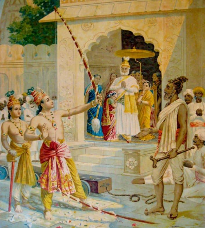 Lord Rama and Broken Shiva Dhanus