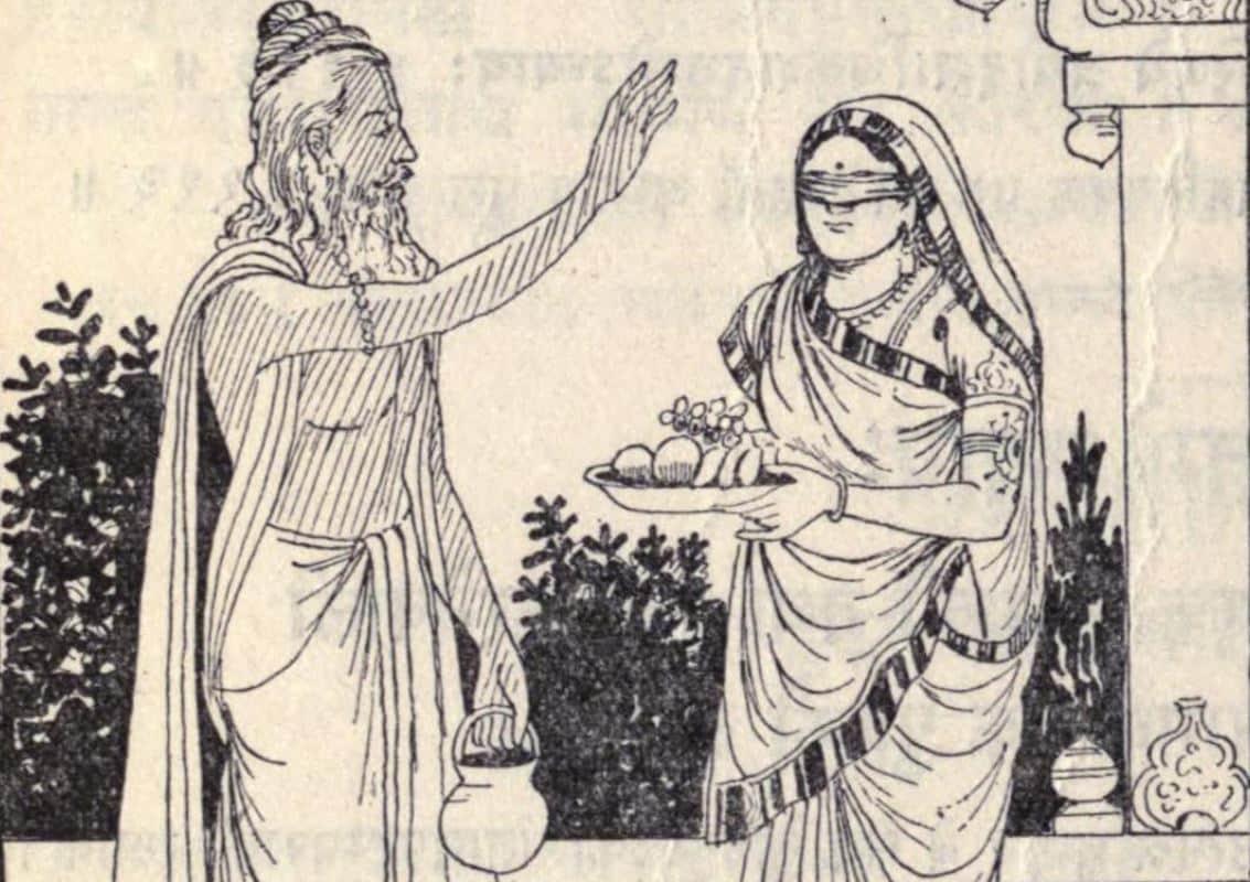 Vyasa and Gandhari