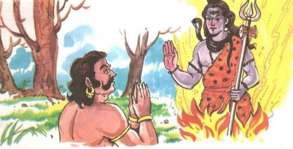 Shiva Giving Boon to Asura