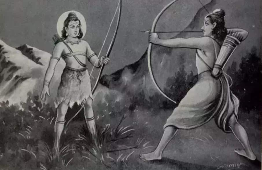 Kirateshwar avatar of Shiva and Arjuna