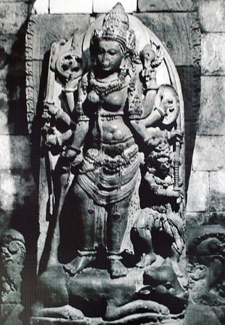 Statue of Durga at Prambanan Temple