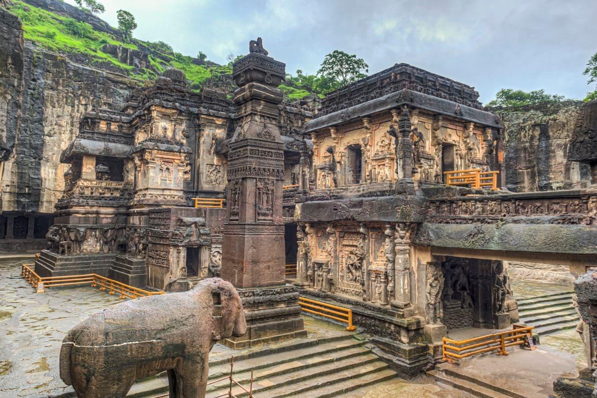 Inside Kailasa Temple