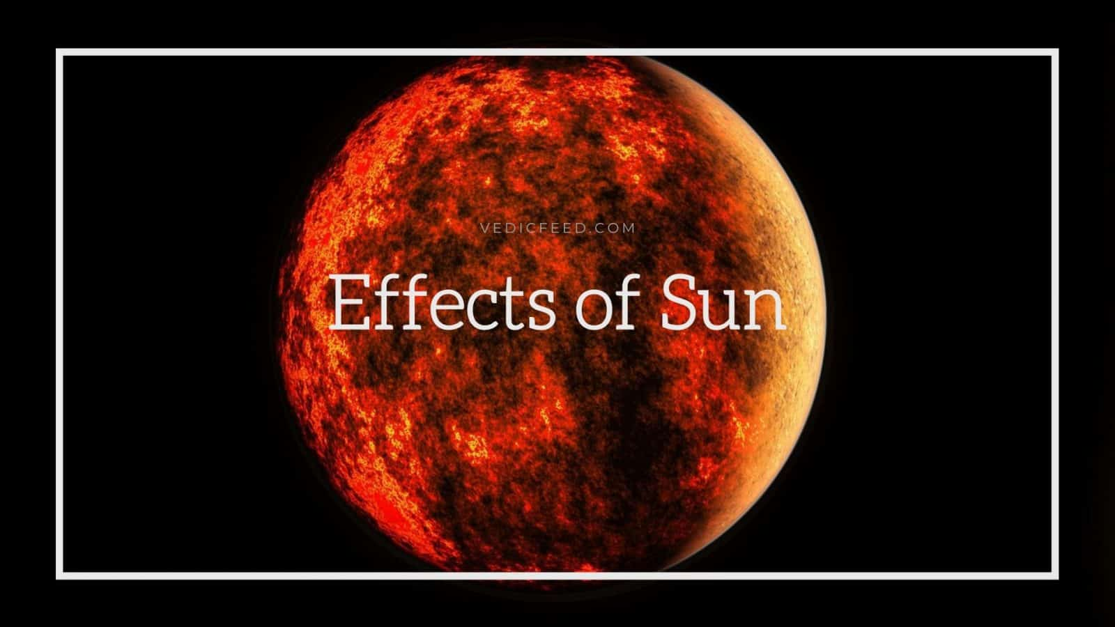 Effects of Sun in 12 houses