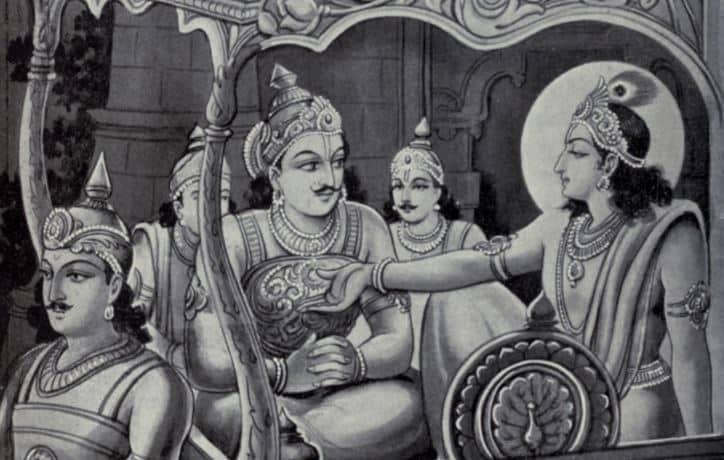 Krishna and Karna