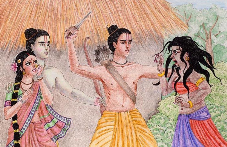 Surpanakha Tries to Devour Sita