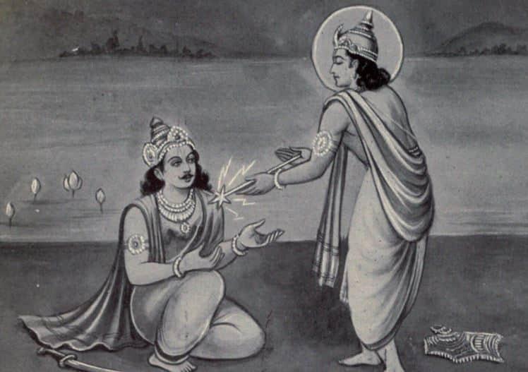 Karna Receives Amogh Shakti From Indra