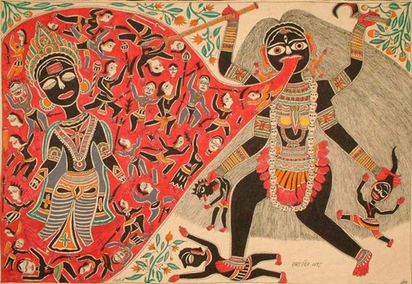 Raktabija and Maa Kali