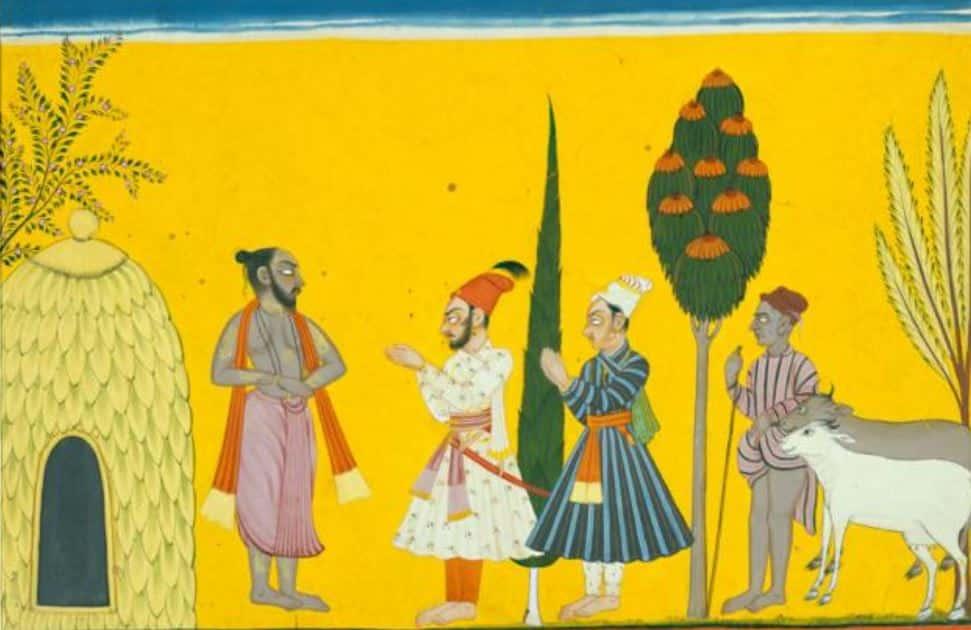 King Kaushika Visits Rishi Vasishtha's Ashram