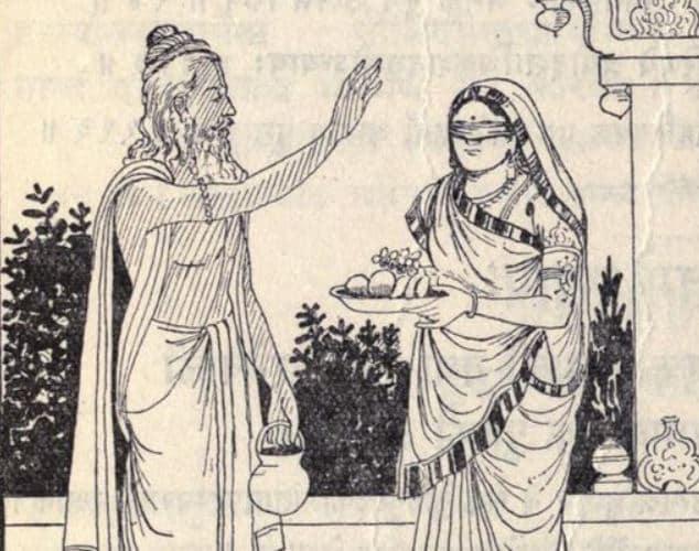 Rishi Vyasa and Gandhari