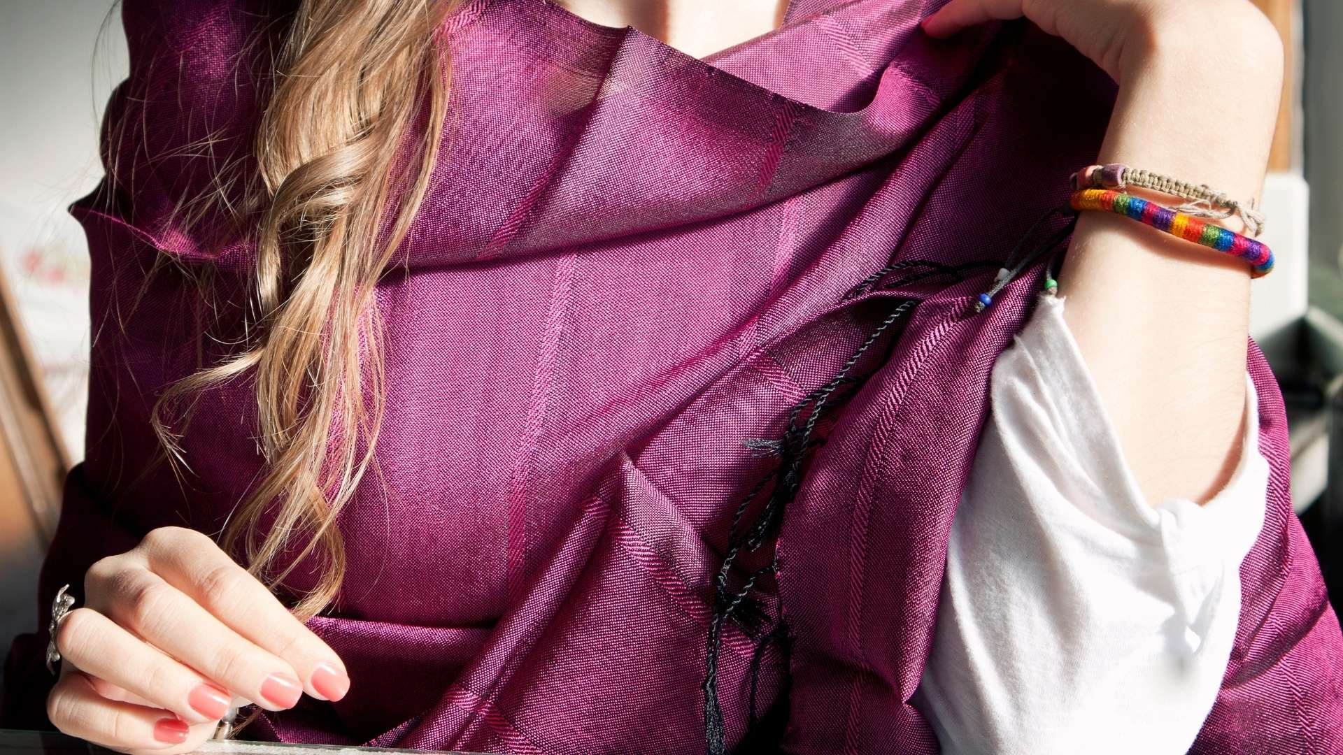 meditation shawl maroon color