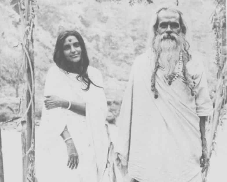 Sri Anandamayi Ma with Her husband