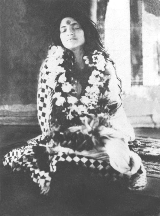 Sri Anandamayi Ma in Samadhi