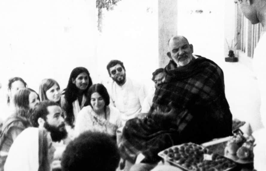 Maharaj ji with Devotee